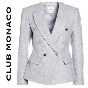 NWOT Club Monaco Jowdie Wool Jacket in Light Grey